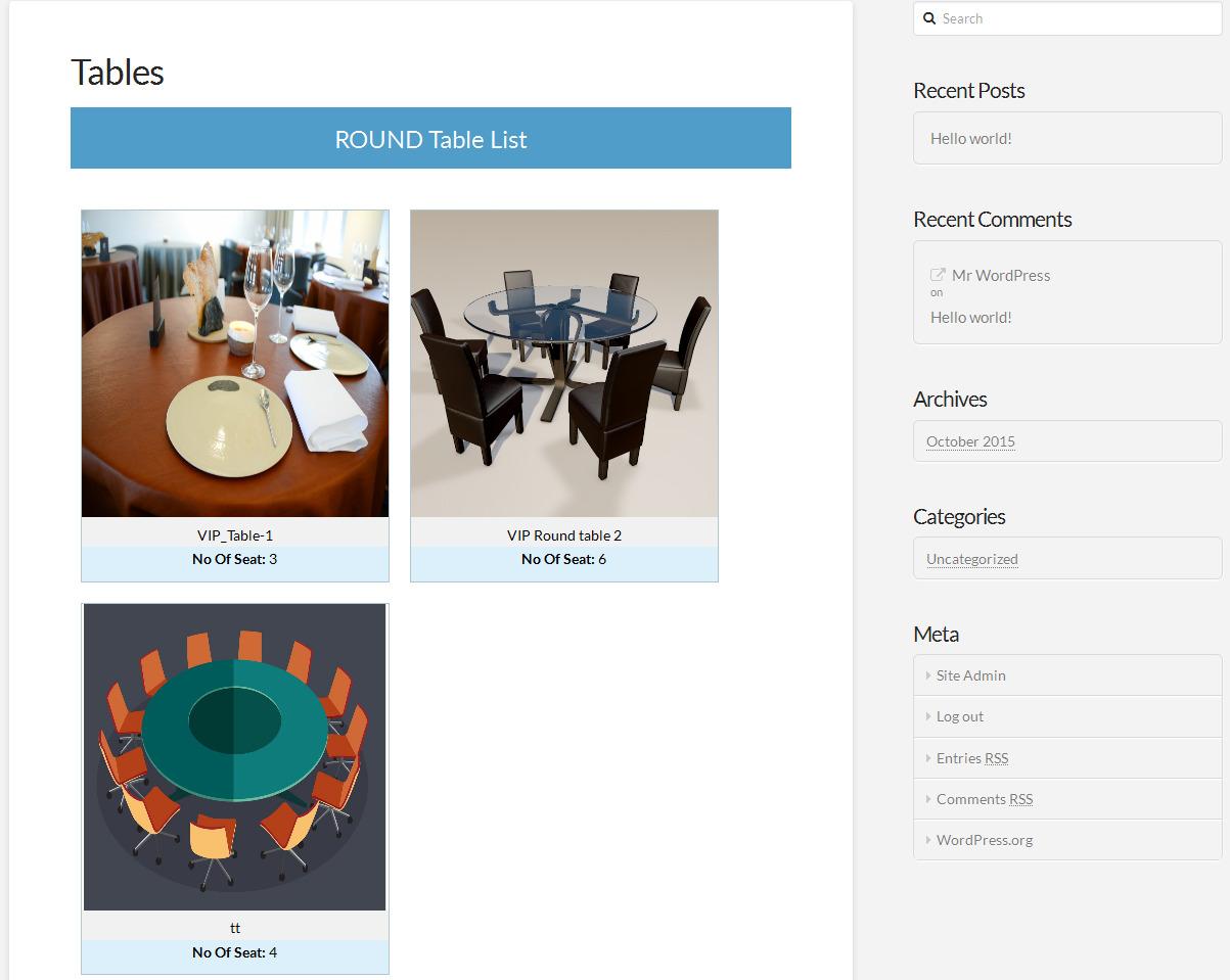 Categorized Tables