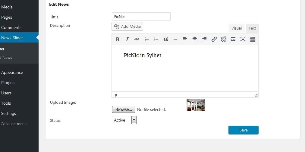 edit-news WP News Slider Widgets Pro