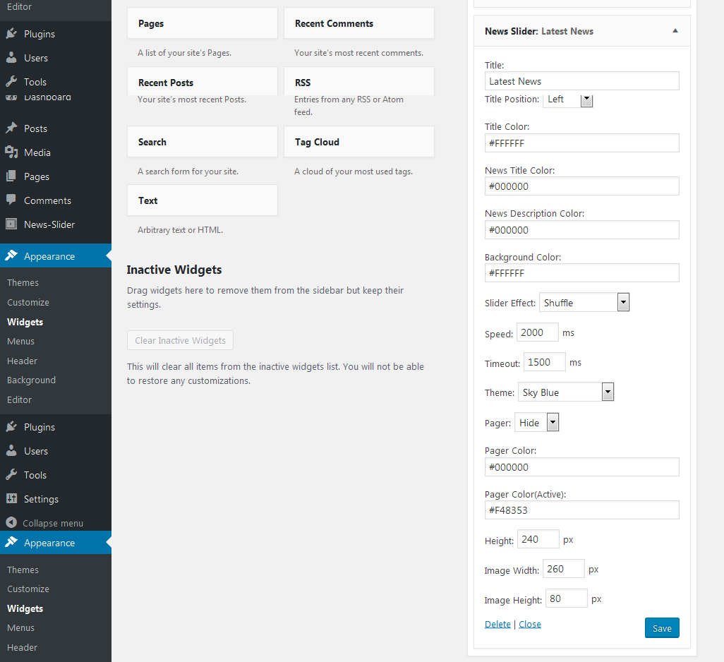 news-slider-settings WP News Slider Widgets Pro