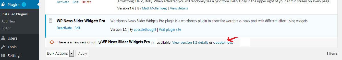 update-auto WP News Slider Widgets Pro